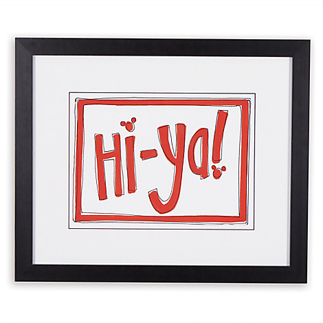 Mickey Mouse ''Hi Ya'' Framed Giclée on Paper by Ethan Allen