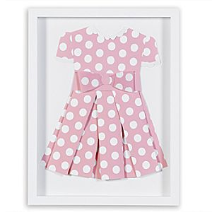 "Minnie Mouse ""Pretty in Polka Dots II"" Framed Paper Art by Ethan Allen"