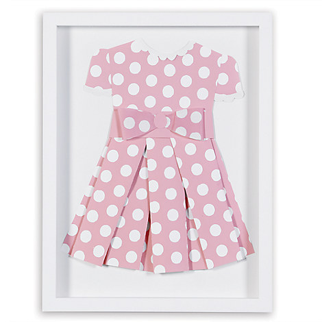 Minnie Mouse ''Pretty in Polka Dots II'' Framed Paper Art by Ethan Allen