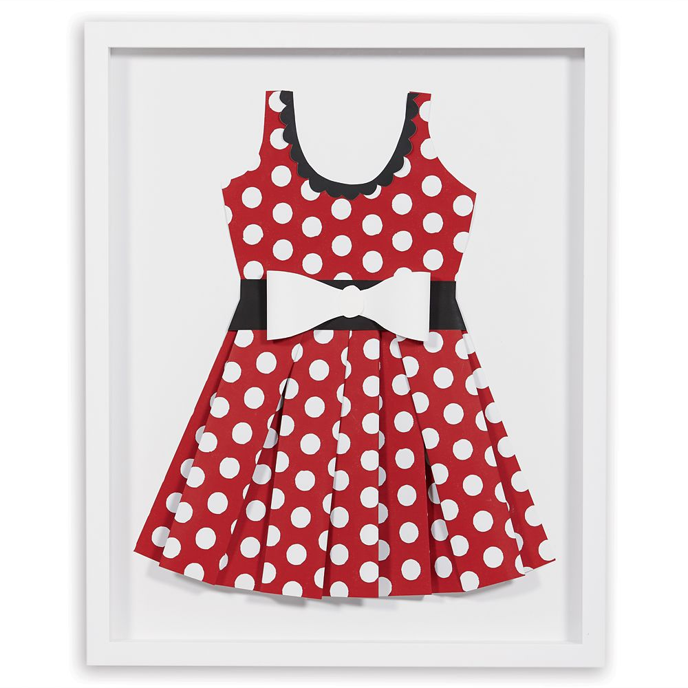 Minnie Mouse ''Perky as a Polka Dot II'' Framed Paper Art by Ethan Allen