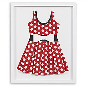 """Minnie Mouse """"Perky as a Polka Dot II"""" Framed Paper Art by Ethan Allen"""
