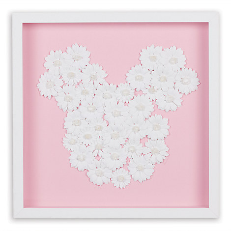 Mickey Mouse ''Daisy Dreams Paper Art'' by Ethan Allen - Framed