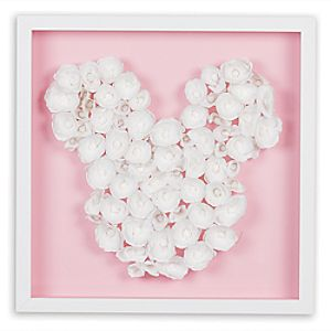Mickey Mouse ''Blossom Garden Paper Art'' by Ethan Allen - Framed