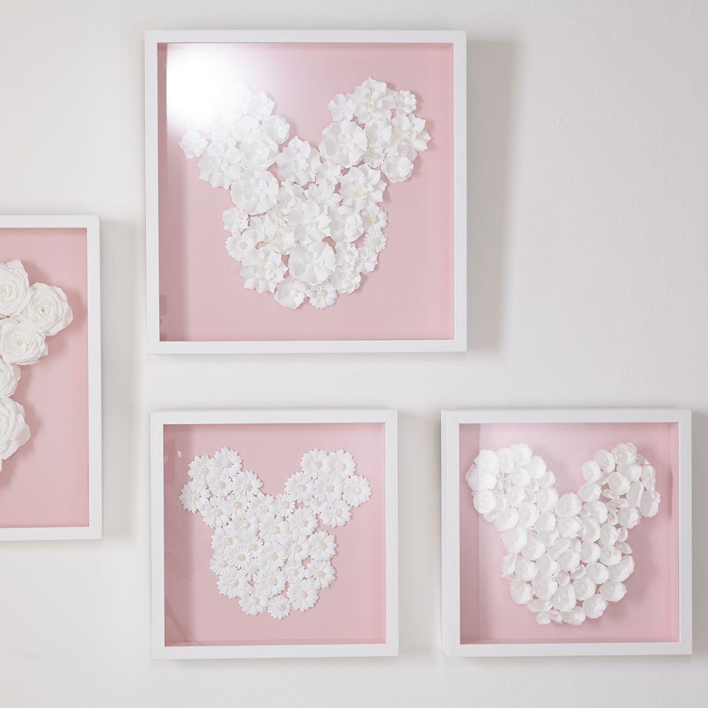 Mickey Mouse ''Flower Garden Paper Art'' by Ethan Allen – Framed