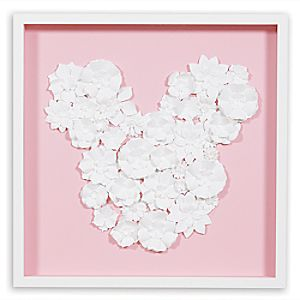 Mickey Mouse ''Flower Garden Paper Art'' by Ethan Allen - Framed