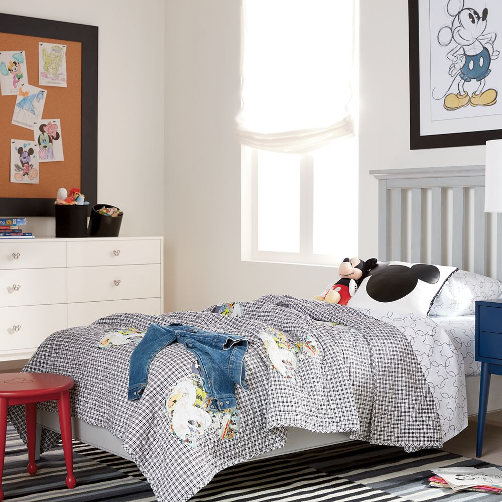 Mickey Mouse Comic Collage Quilt by Ethan Allen
