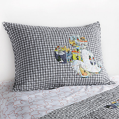 Mickey Mouse Comic Collage Quilted Sham by Ethan Allen