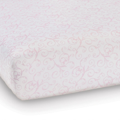 Minnie Mouse Scroll Crib Sheet by Ethan Allen