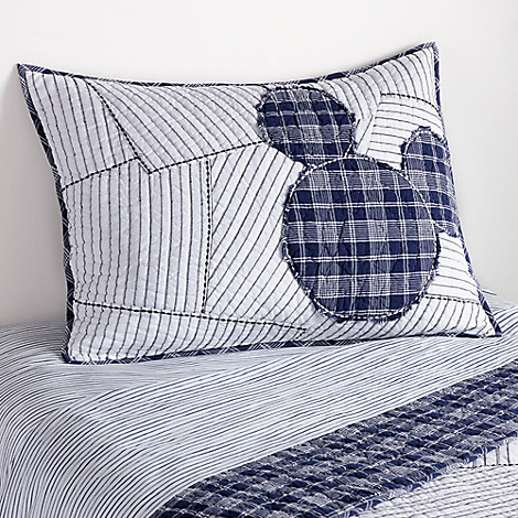 Mickey Mouse Ticking Stripe Mickey Sham by Ethan Allen