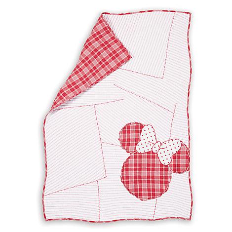 Minnie Mouse Ticking Stripe Minnie Toddler Quilt by Ethan Allen