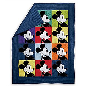 Mickey Mouse Color Block Mickey Quilt