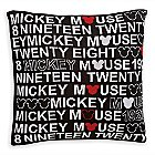 Mickey Mouse 1928 Knit Pillow by Ethan Allen