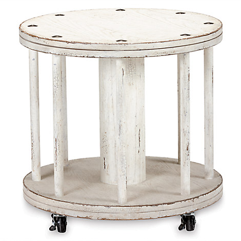Mickey Mouse Film Canister Side Table by Ethan Allen