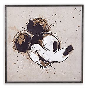 """Mickey Mouse """"Abstract Mickey"""" Framed Giclée on Canvas by Ethan Allen"""