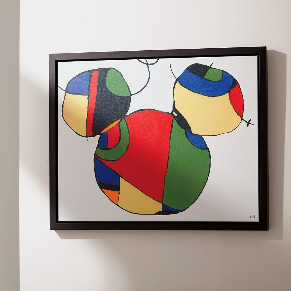 Mickey Mouse ''Expressionist Mickey I'' Framed Giclée on Canvas by Ethan Allen