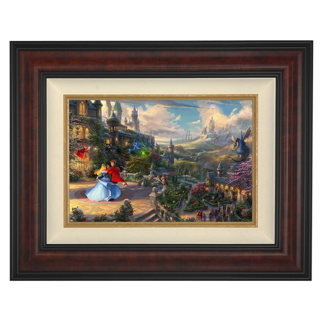 ''Sleeping Beauty Dancing in the Enchanted Light'' Framed Limited Edition Canvas by Thomas Kinkade Studios