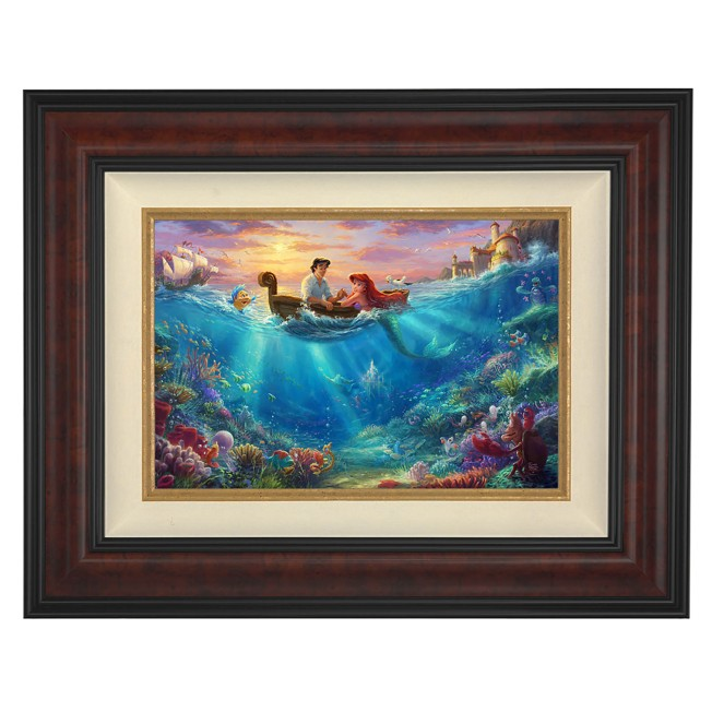 ''Little Mermaid Falling in Love'' Framed Limited Edition Canvas by Thomas Kinkade Studios