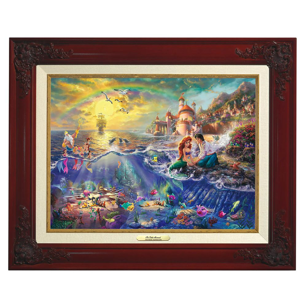 ''The Little Mermaid'' Framed Canvas Classic by Thomas Kinkade Studios