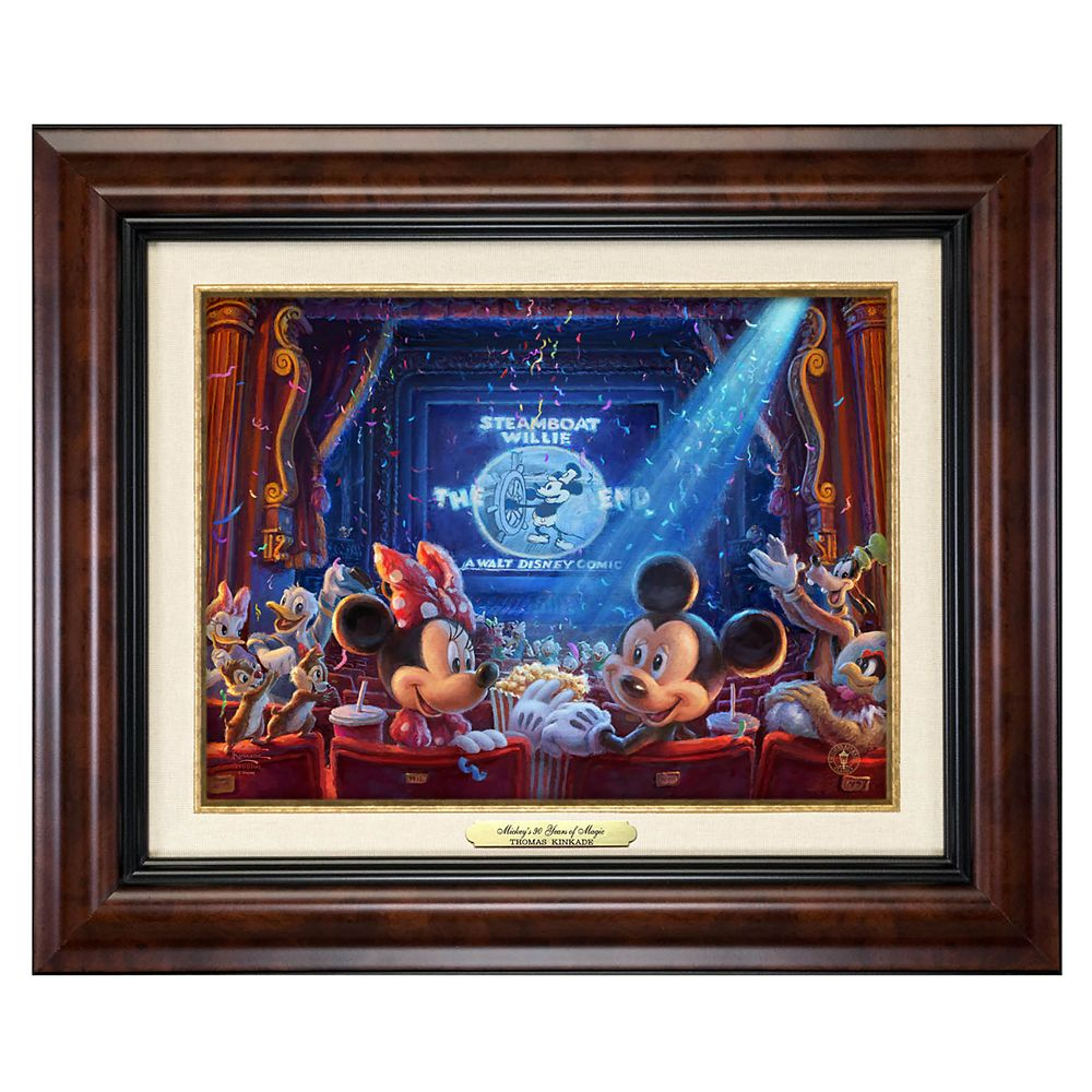 ''90 Years of Mickey'' Framed Canvas Classic by Thomas Kinkade Studios