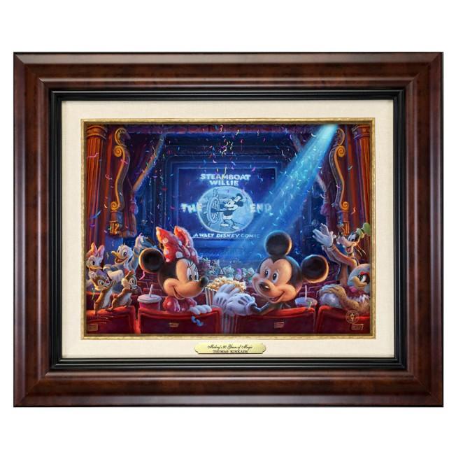 ''90 Years of Mickey'' Framed Canvas Classic by Thomas Kinkade Studios