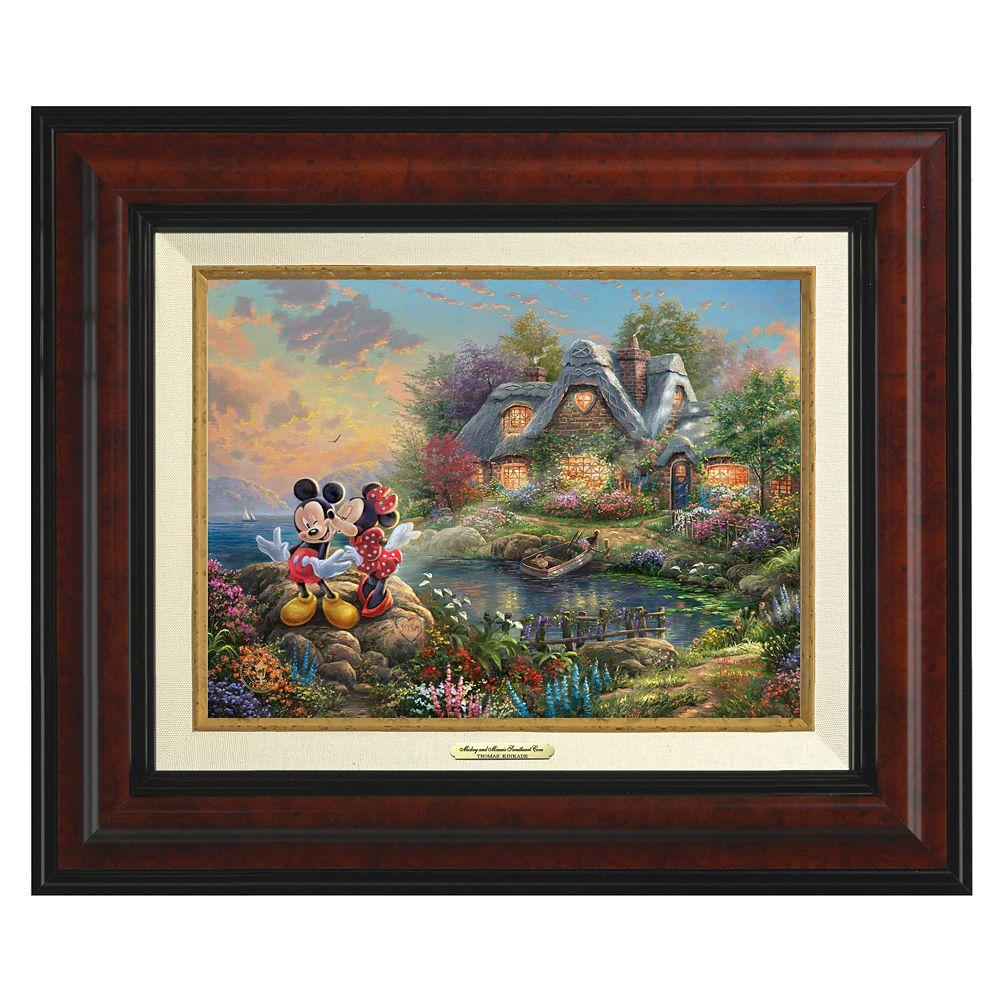 ''Mickey and Minnie Sweetheart Cove'' Canvas Classic by Thomas Kinkade Studios Official shopDisney