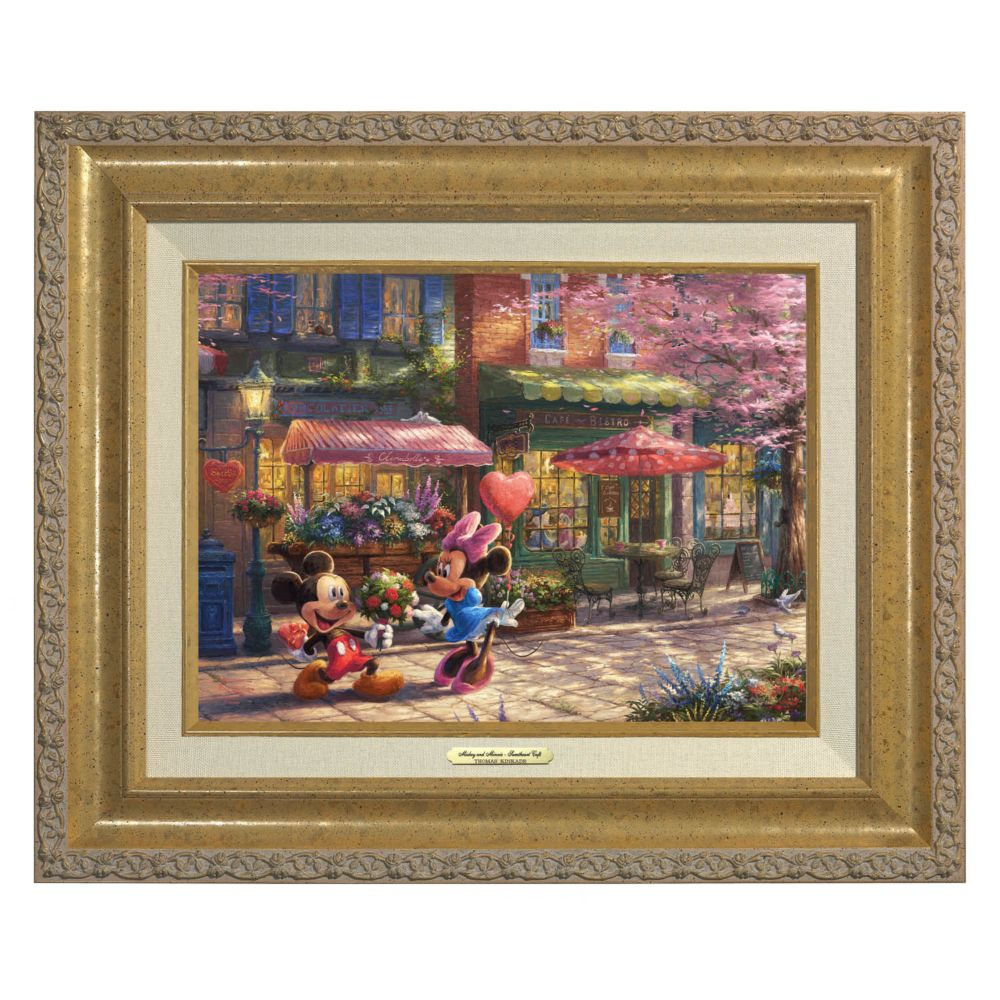 ''Mickey and Minnie Sweetheart Café'' Canvas Classic by Thomas Kinkade Studios