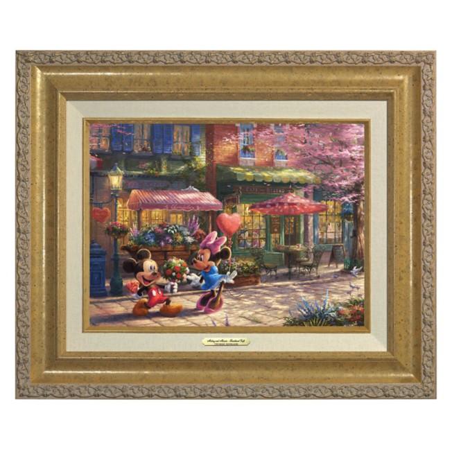 ''Mickey and Minnie Sweetheart Café'' Canvas Classic by Thomas Kinkade Studios