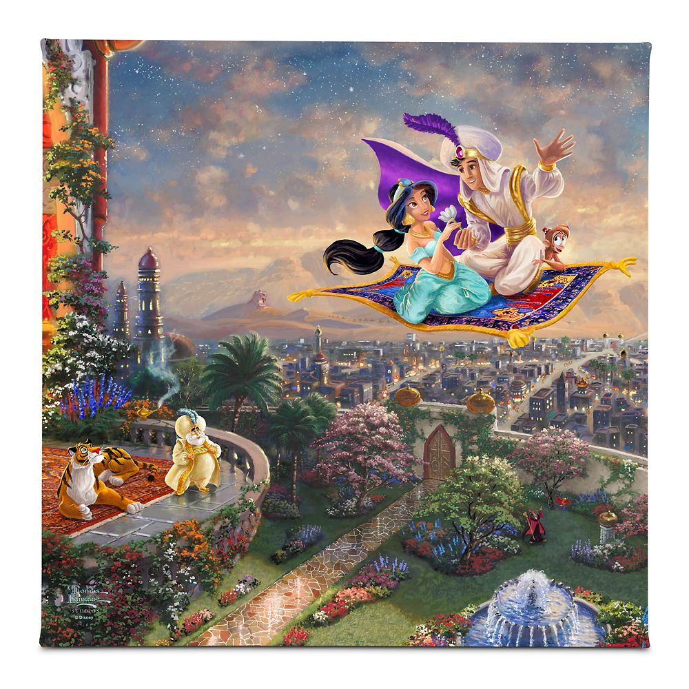 ''Aladdin'' Gallery Wrapped Canvas by Thomas Kinkade Studios