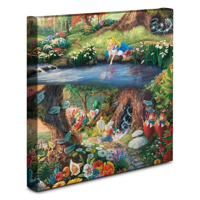 ''Alice in Wonderland'' Gallery Wrapped Canvas by Thomas Kinkade Studios