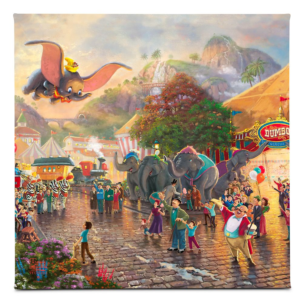 ''Dumbo'' Gallery Wrapped Canvas by Thomas Kinkade Studios