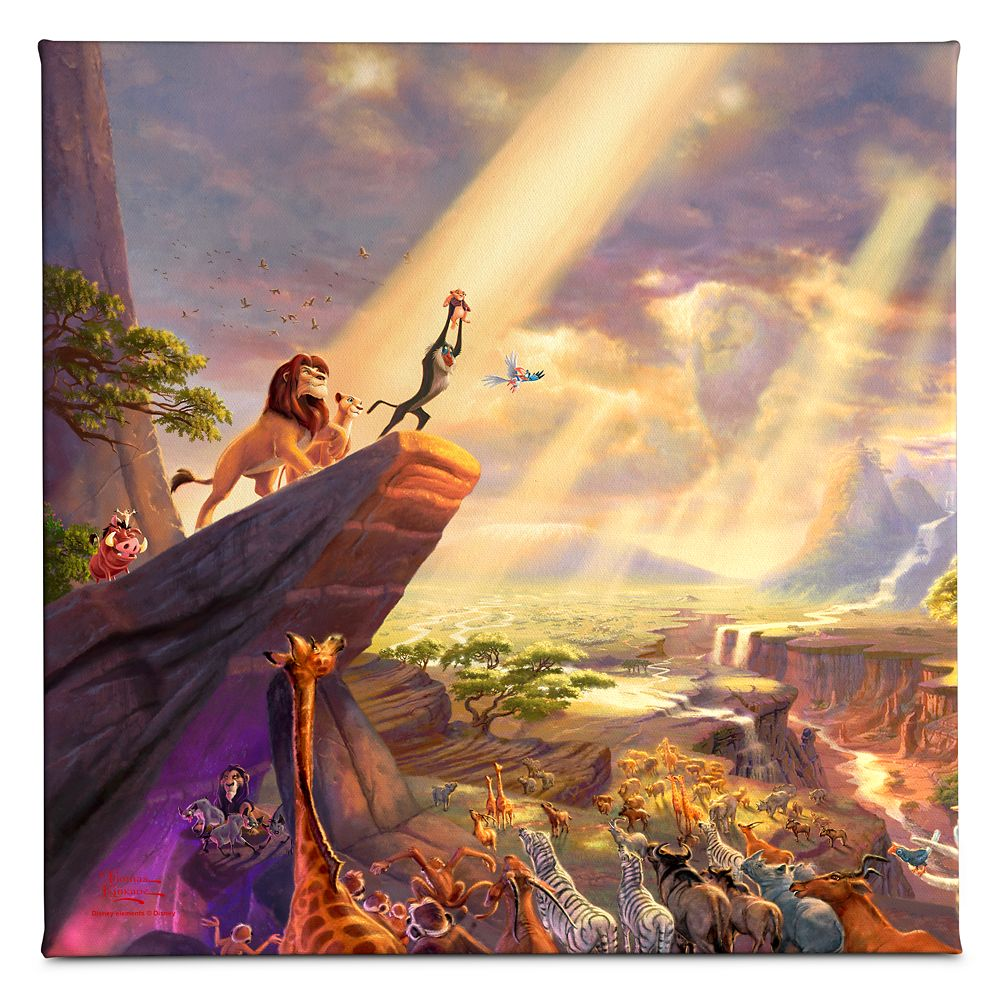 ''The Lion King'' Gallery Wrapped Canvas by Thomas Kinkade