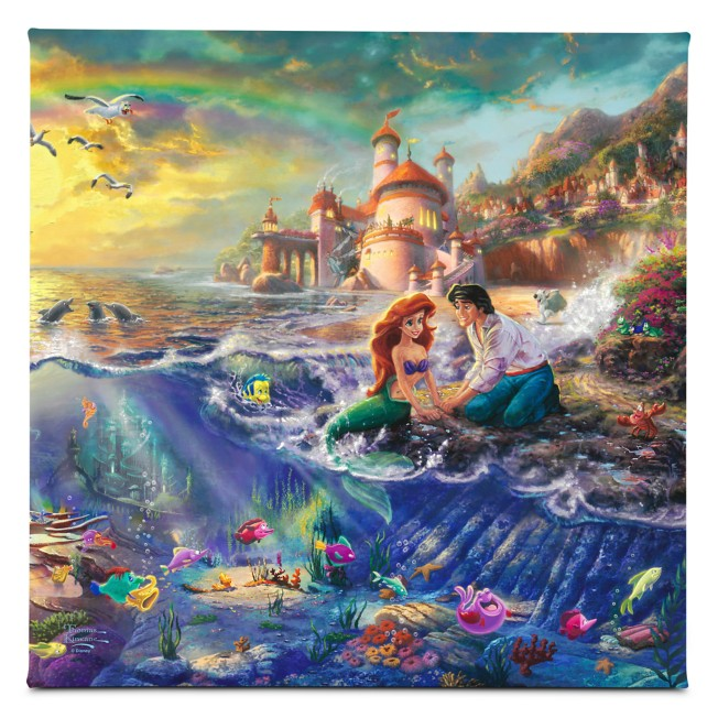 The Little Mermaid Gallery Wrapped Canvas by Thomas Kinkade