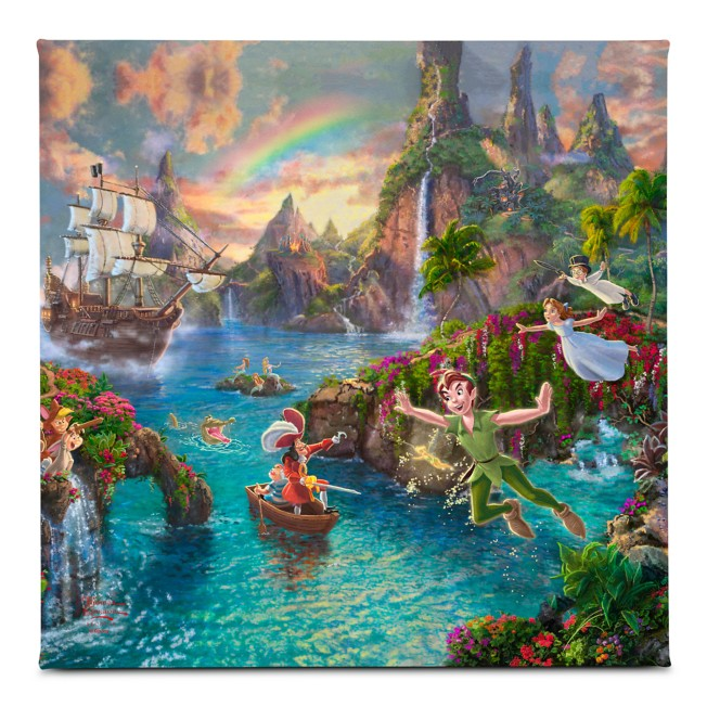 ''Peter Pan's Never Land'' Gallery Wrapped Canvas by Thomas Kinkade Studios