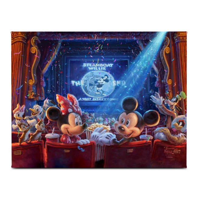 ''90 Years of Mickey'' Gallery Wrapped Canvas by Thomas Kinkade Studios