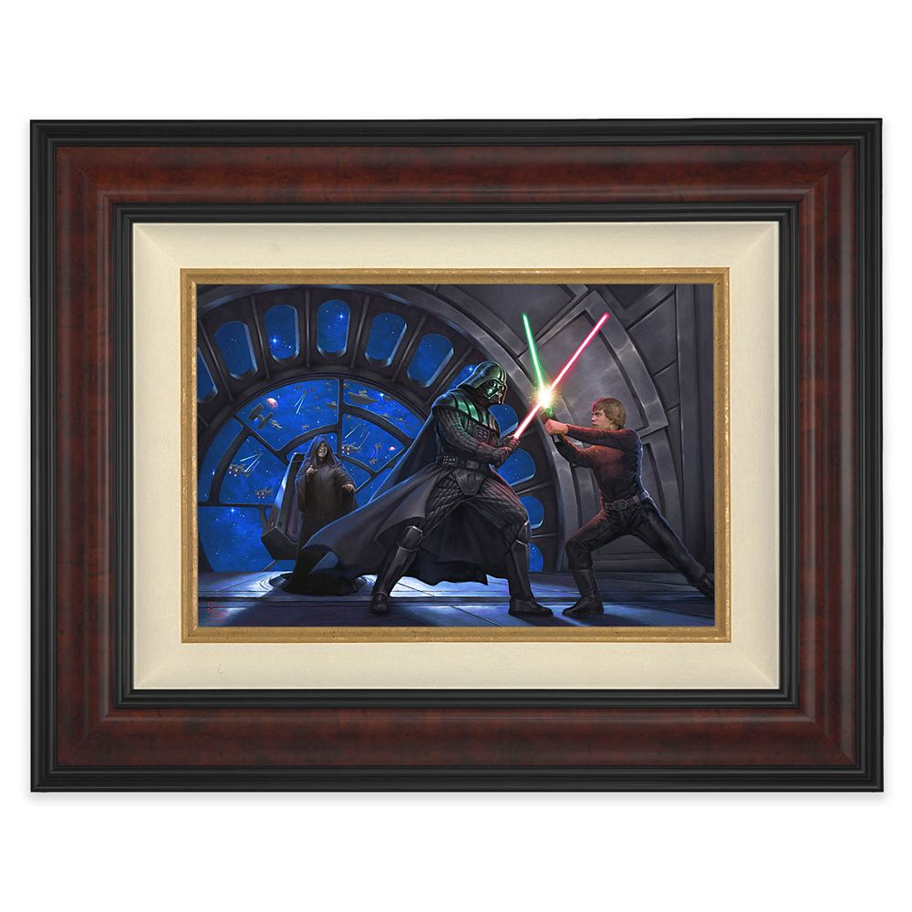 Star Wars ''A Son's Destiny'' Framed Canvas by Thomas Kinkade Studios – Limited Edition