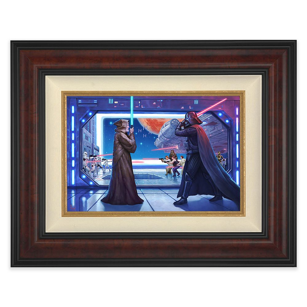 Star Wars ''Obi-Wan's Final Battle'' Framed Canvas by Thomas Kinkade Studios – Limited Edition