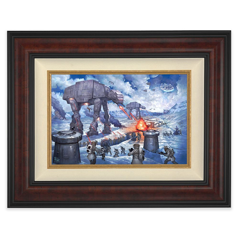 Star Wars ''The Battle of Hoth'' Framed Canvas by Thomas Kinkade Studios – Limited Edition