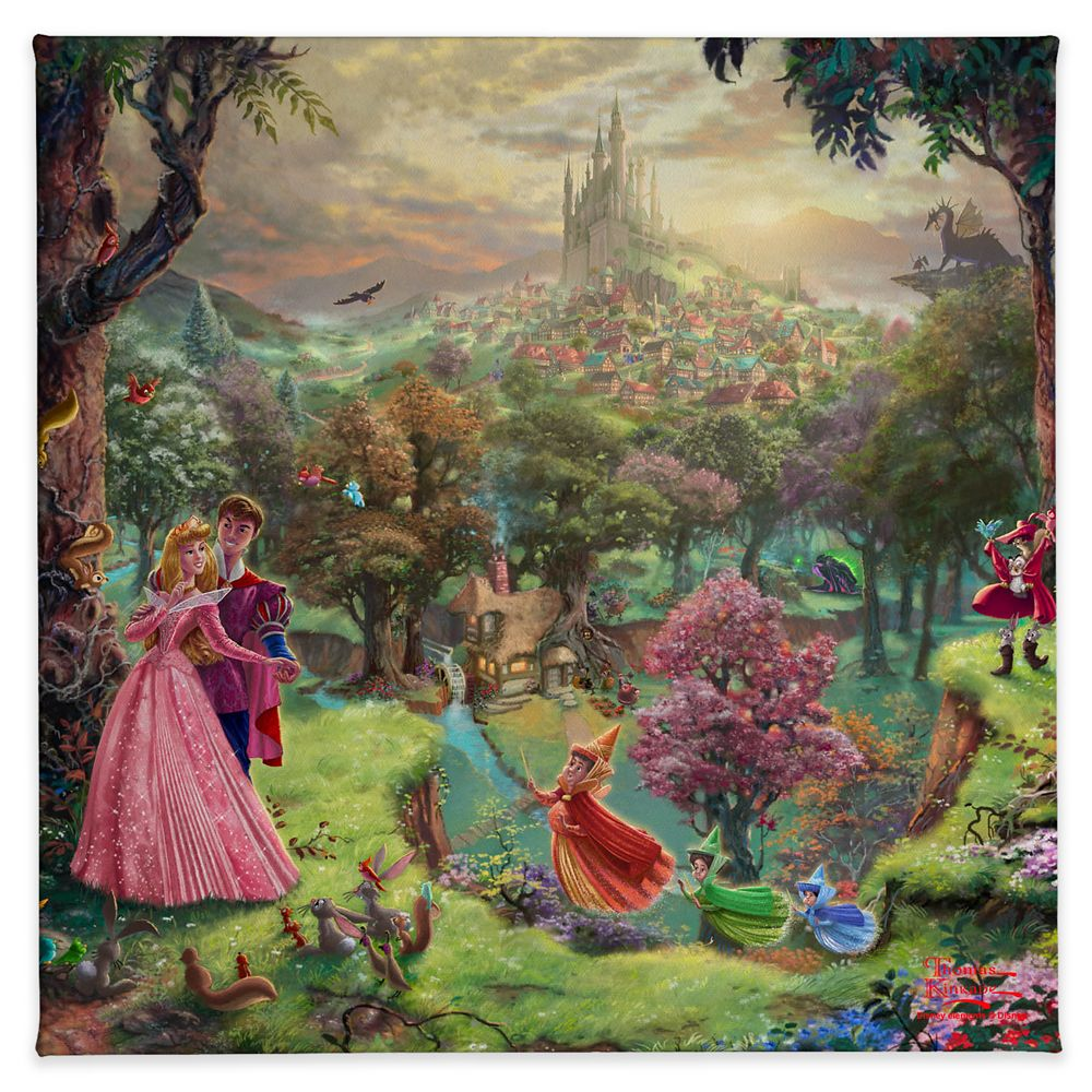''Sleeping Beauty'' Gallery Wrapped Canvas by Thomas Kinkade Studios