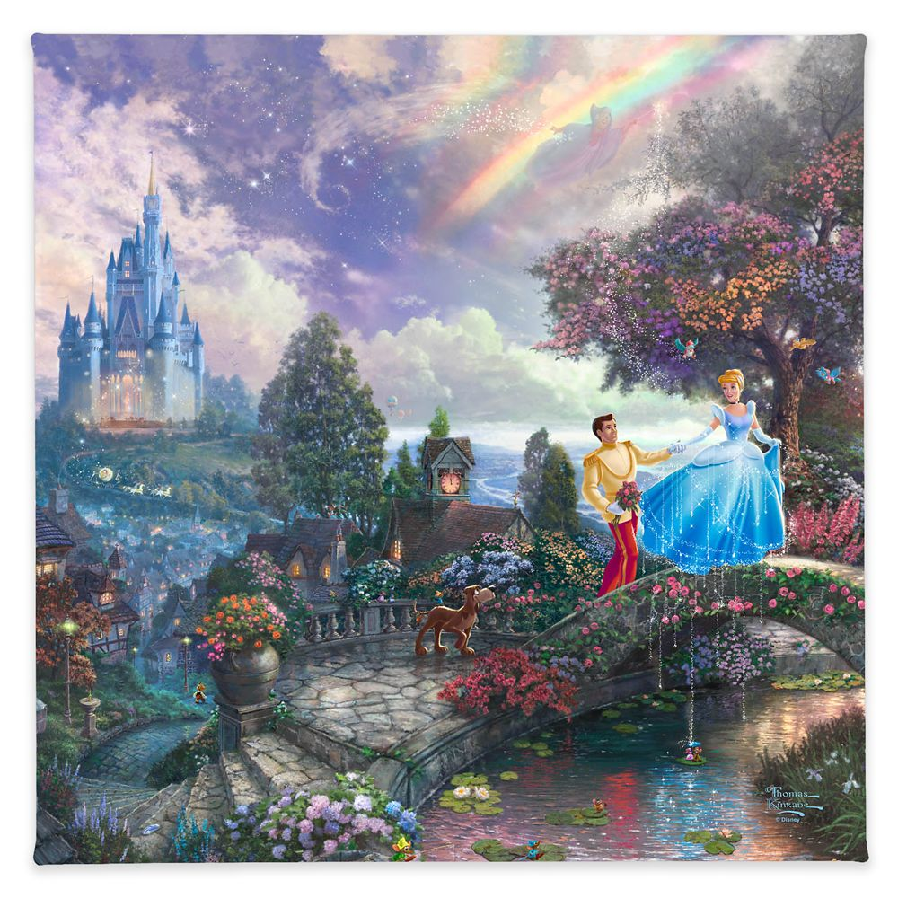 ''Cinderella Wishes Upon a Dream'' Gallery Wrapped Canvas by Thomas Kinkade Studios