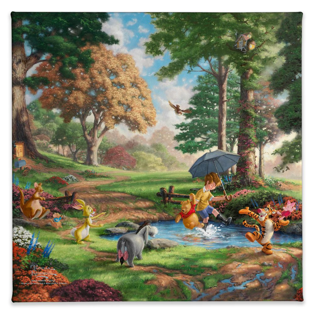 ''Winnie the Pooh I'' Gallery Wrapped Canvas by Thomas Kinkade Studios
