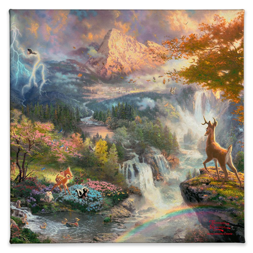 ''Bambi's First Year'' Gallery Wrapped Canvas by Thomas Kinkade Studios