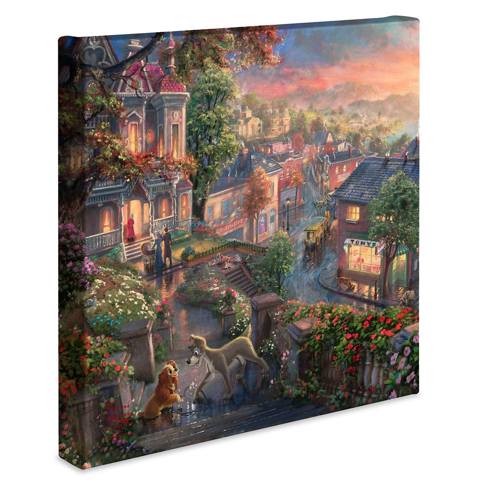 ''Lady and the Tramp'' Gallery Wrapped Canvas by Thomas Kinkade Studios