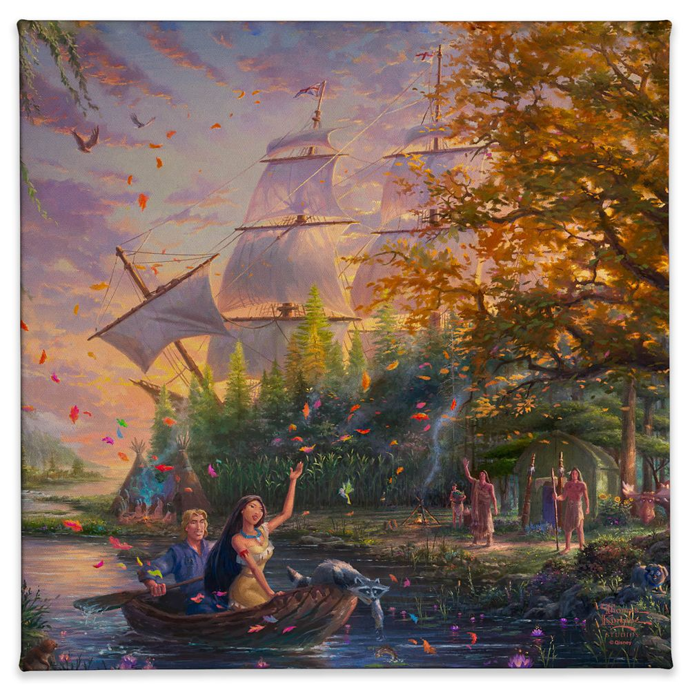 ''Pocahontas: Colors of Love'' Gallery Wrapped Canvas by Thomas Kinkade Studios