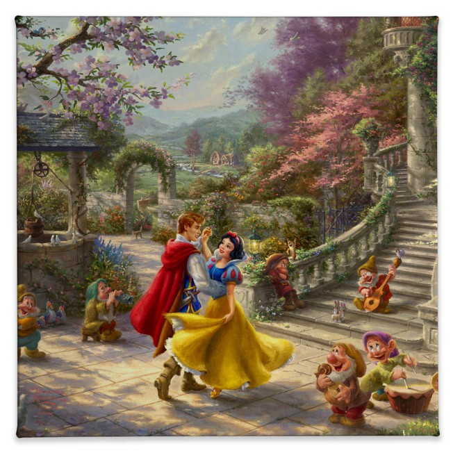 ''Snow White Dancing in the Sunlight'' Gallery Wrapped Canvas by Thomas Kinkade Studios