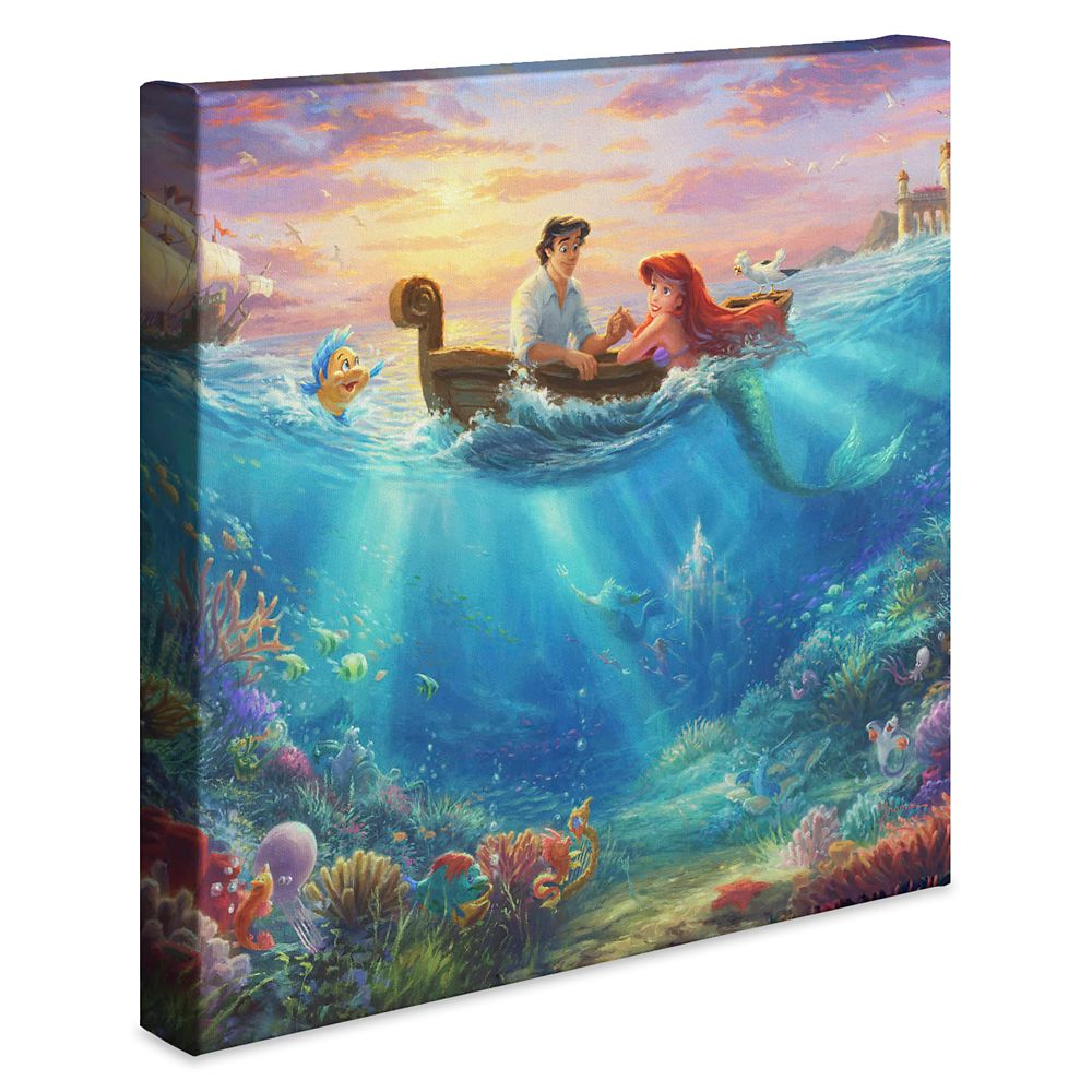 ''Little Mermaid Falling in Love'' Gallery Wrapped Canvas by Thomas Kinkade Studios