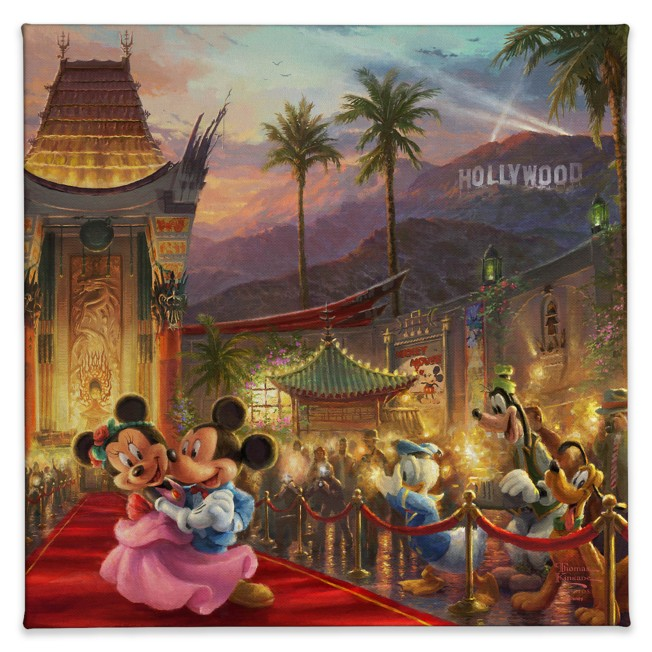 ''Mickey and Minnie in Hollywood'' Gallery Wrapped Canvas by Thomas Kinkade Studios