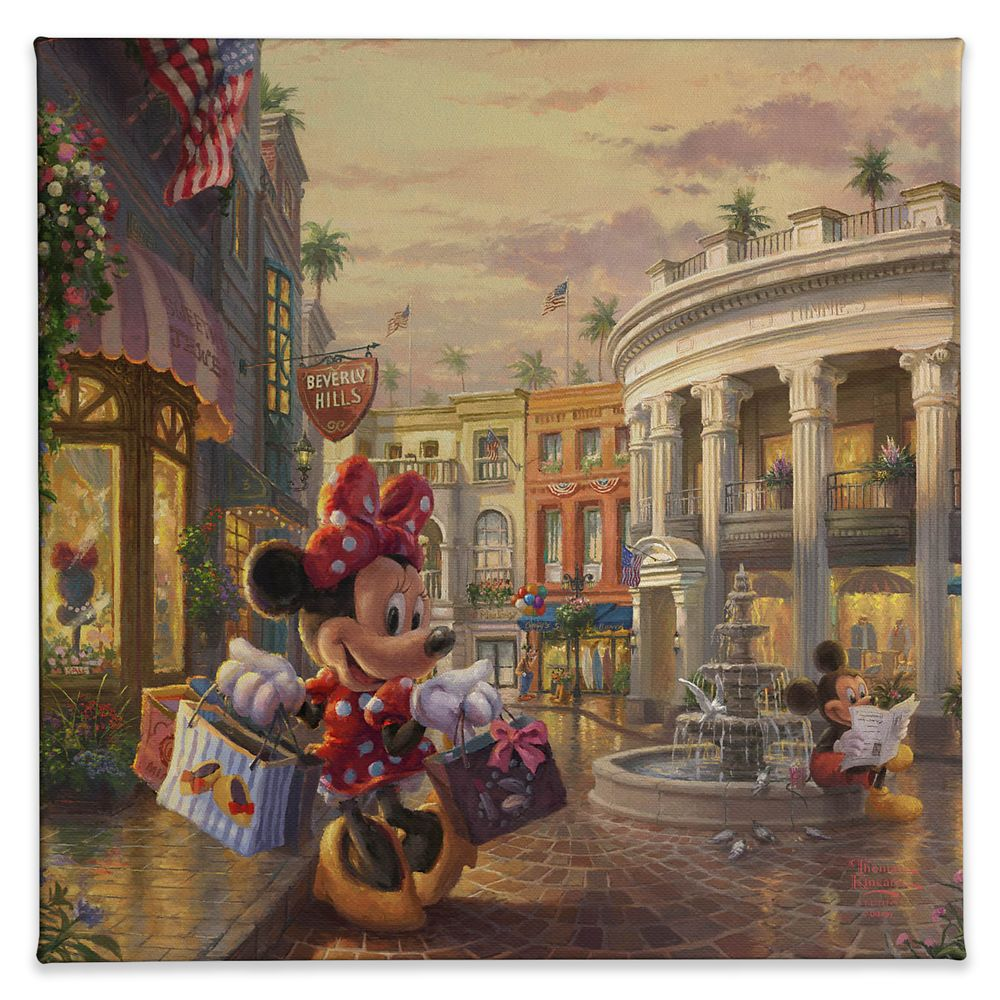 ''Minnie Rocks the Dots on Rodeo Drive'' Gallery Wrapped Canvas by Thomas Kinkade Studios