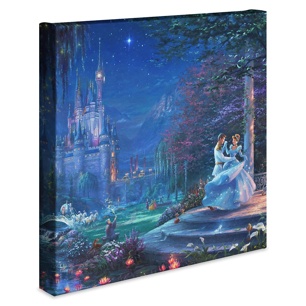 ''Cinderella Dancing in the Starlight'' Gallery Wrapped Canvas by Thomas Kinkade Studios