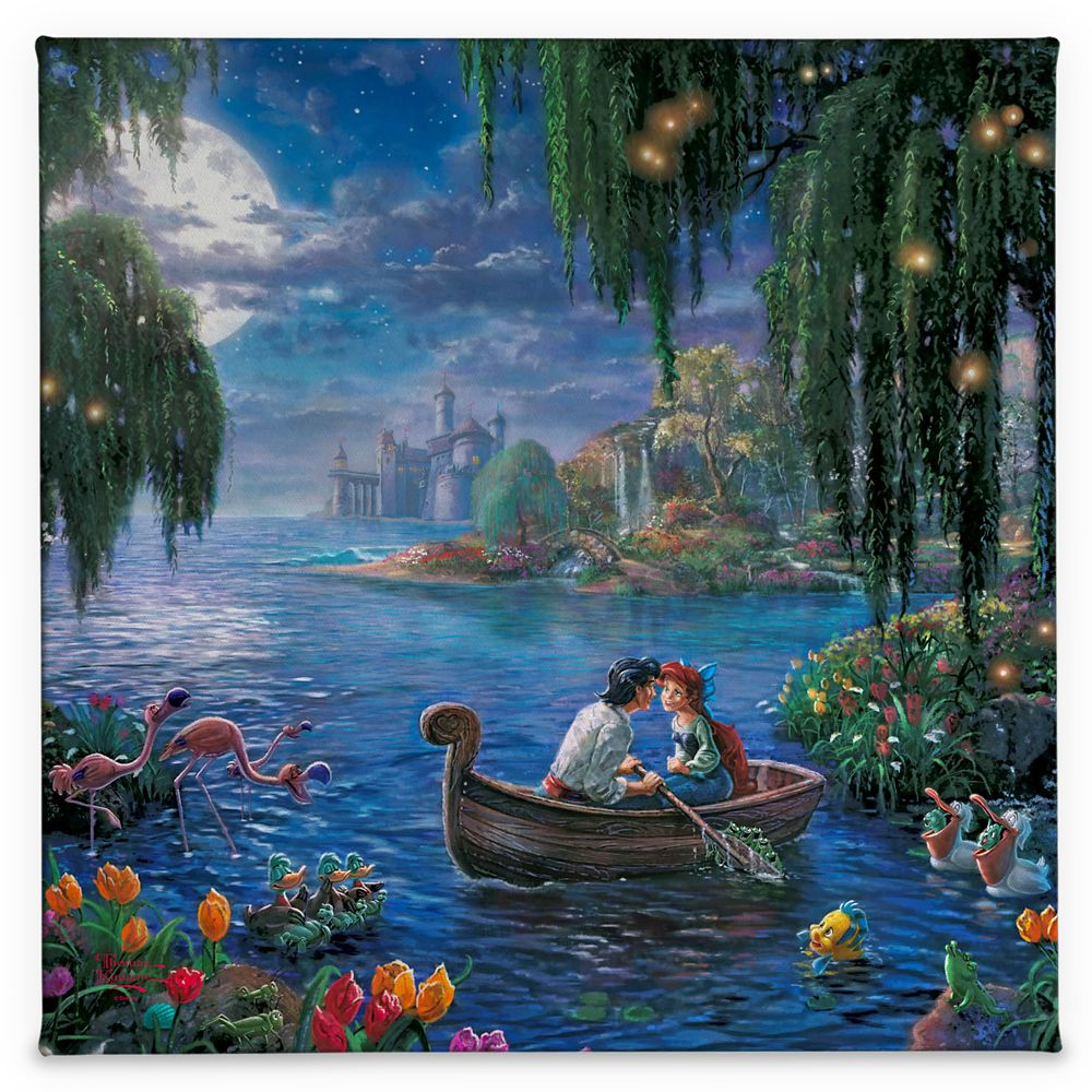 ''The Little Mermaid II'' Gallery Wrapped Canvas by Thomas Kinkade Studios