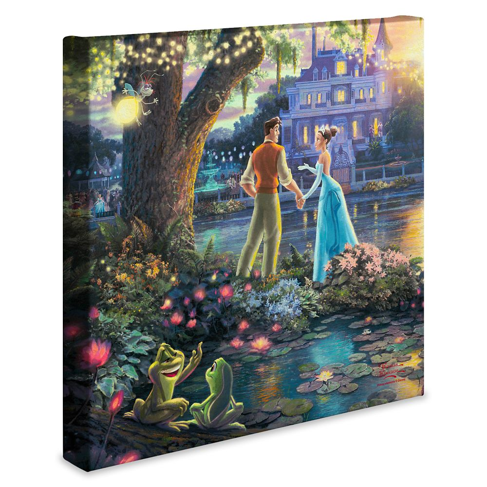 ''The Princess and the Frog'' Gallery Wrapped Canvas by Thomas Kinkade Studios
